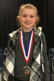 Photo of Sheridan Riles, ESE Spelling Bee Champion